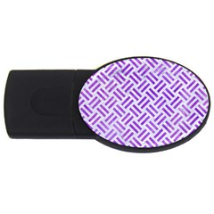 Woven2 White Marble & Purple Watercolor (r) Usb Flash Drive Oval (4 Gb) by trendistuff