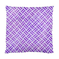 Woven2 White Marble & Purple Watercolor (r) Standard Cushion Case (two Sides) by trendistuff