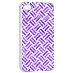 Woven2 White Marble & Purple Watercolor (r) Apple Iphone 4/4s Seamless Case (white) by trendistuff