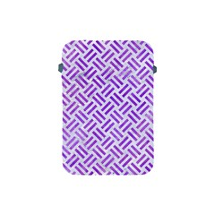 Woven2 White Marble & Purple Watercolor (r) Apple Ipad Mini Protective Soft Cases by trendistuff
