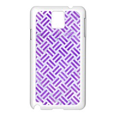 Woven2 White Marble & Purple Watercolor (r) Samsung Galaxy Note 3 N9005 Case (white) by trendistuff