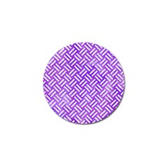 Woven2 White Marble & Purple Watercolor Golf Ball Marker (10 Pack) by trendistuff