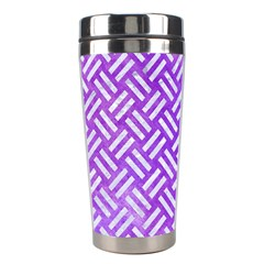 Woven2 White Marble & Purple Watercolor Stainless Steel Travel Tumblers by trendistuff