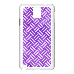 Woven2 White Marble & Purple Watercolor Samsung Galaxy Note 3 N9005 Case (white) by trendistuff