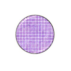 Woven1 White Marble & Purple Watercolor (r) Hat Clip Ball Marker by trendistuff