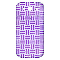 Woven1 White Marble & Purple Watercolor (r) Samsung Galaxy S3 S Iii Classic Hardshell Back Case by trendistuff