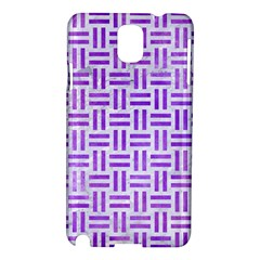 Woven1 White Marble & Purple Watercolor (r) Samsung Galaxy Note 3 N9005 Hardshell Case by trendistuff