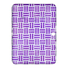 Woven1 White Marble & Purple Watercolor (r) Samsung Galaxy Tab 4 (10 1 ) Hardshell Case  by trendistuff