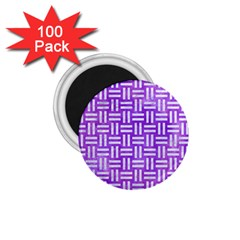 Woven1 White Marble & Purple Watercolor 1 75  Magnets (100 Pack)