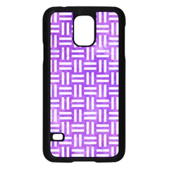 Woven1 White Marble & Purple Watercolor Samsung Galaxy S5 Case (black) by trendistuff