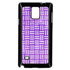 Woven1 White Marble & Purple Watercolor Samsung Galaxy Note 4 Case (black)