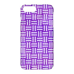 Woven1 White Marble & Purple Watercolor Apple Iphone 7 Plus Hardshell Case