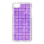 WOVEN1 WHITE MARBLE & PURPLE WATERCOLOR Apple iPhone 8 Seamless Case (White) Front