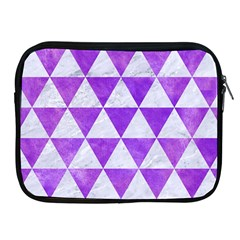 Triangle3 White Marble & Purple Watercolor Apple Ipad 2/3/4 Zipper Cases by trendistuff