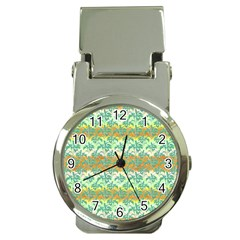 Colorful Tropical Print Pattern Money Clip Watches