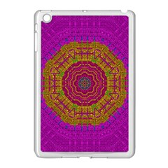 Summer Sun Shine In A Sunshine Mandala Apple Ipad Mini Case (white) by pepitasart