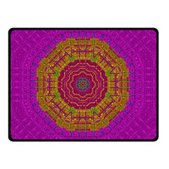 Summer Sun Shine In A Sunshine Mandala Double Sided Fleece Blanket (small)  by pepitasart