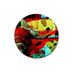 Yellow Dolphins   Blue Lagoon 4 Magnet 3  (round) by bestdesignintheworld