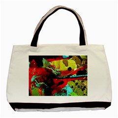 Yellow Dolphins   Blue Lagoon 4 Basic Tote Bag