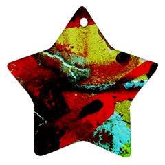 Yellow Dolphins   Blue Lagoon 4 Star Ornament (two Sides) by bestdesignintheworld