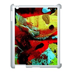 Yellow Dolphins   Blue Lagoon 4 Apple Ipad 3/4 Case (white)
