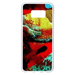 Yellow Dolphins   Blue Lagoon 4 Samsung Galaxy S8 Plus White Seamless Case by bestdesignintheworld