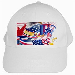 United States Of America Usa  Images Independence Day White Cap by Sapixe