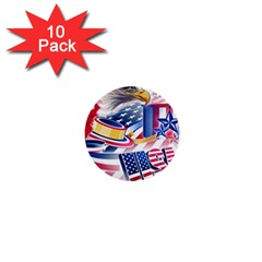 United States Of America Usa  Images Independence Day 1  Mini Buttons (10 Pack)