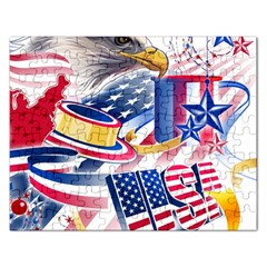 United States Of America Usa  Images Independence Day Rectangular Jigsaw Puzzl by Sapixe