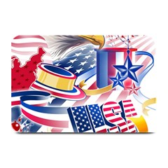 United States Of America Usa  Images Independence Day Plate Mats by Sapixe