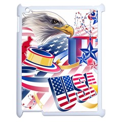 United States Of America Usa  Images Independence Day Apple Ipad 2 Case (white) by Sapixe