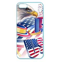 United States Of America Usa  Images Independence Day Apple Seamless Iphone 5 Case (color) by Sapixe