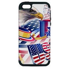United States Of America Usa  Images Independence Day Apple Iphone 5 Hardshell Case (pc+silicone)