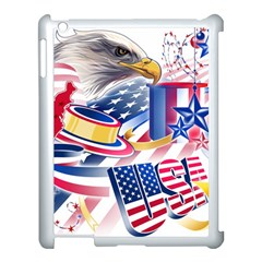 United States Of America Usa  Images Independence Day Apple Ipad 3/4 Case (white) by Sapixe