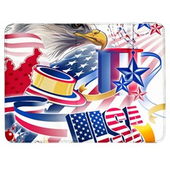United States Of America Usa  Images Independence Day Samsung Galaxy Tab 7  P1000 Flip Case by Sapixe