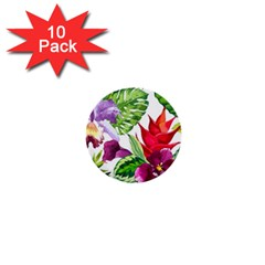 Vector Pattern Tropical 1  Mini Buttons (10 Pack)