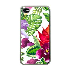 Vector Pattern Tropical Apple Iphone 4 Case (clear) by Sapixe