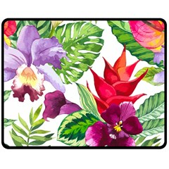 Vector Pattern Tropical Double Sided Fleece Blanket (medium)