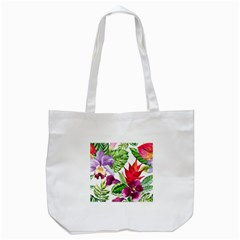 Vector Pattern Tropical Tote Bag (white)