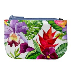 Vector Pattern Tropical Large Coin Purse by Sapixe