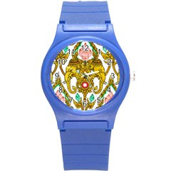 Traditional Thai Style Painting Round Plastic Sport Watch (s) by Sapixe