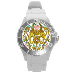 Traditional Thai Style Painting Round Plastic Sport Watch (l)