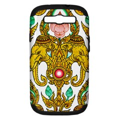 Traditional Thai Style Painting Samsung Galaxy S Iii Hardshell Case (pc+silicone)