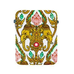 Traditional Thai Style Painting Apple Ipad 2/3/4 Protective Soft Cases