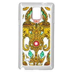Traditional Thai Style Painting Samsung Galaxy Note 4 Case (white)