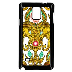 Traditional Thai Style Painting Samsung Galaxy Note 4 Case (black) by Sapixe