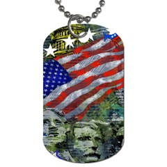 Usa United States Of America Images Independence Day Dog Tag (two Sides) by Sapixe