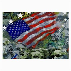 Usa United States Of America Images Independence Day Large Glasses Cloth (2 Side) by Sapixe