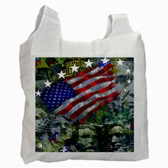 Usa United States Of America Images Independence Day Recycle Bag (one Side) by Sapixe
