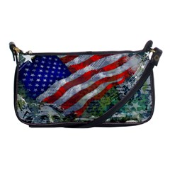 Usa United States Of America Images Independence Day Shoulder Clutch Bags by Sapixe